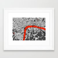 london map Framed Art Prints featuring London Map by Dizzy Moments
