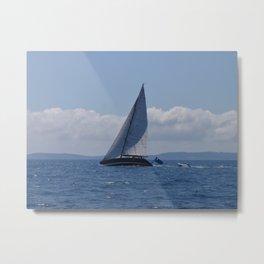 Modern Racing Yacht Metal Print