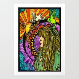 Three Birds of Rhiannon Art Print