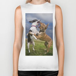 Dogs with game face on .14 Biker Tank