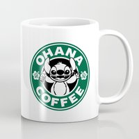 ohana Mugs featuring Ohana Coffee by Ellador