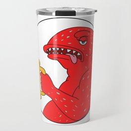 Coral Trout Beer Mug Circle Drawing Travel Mug