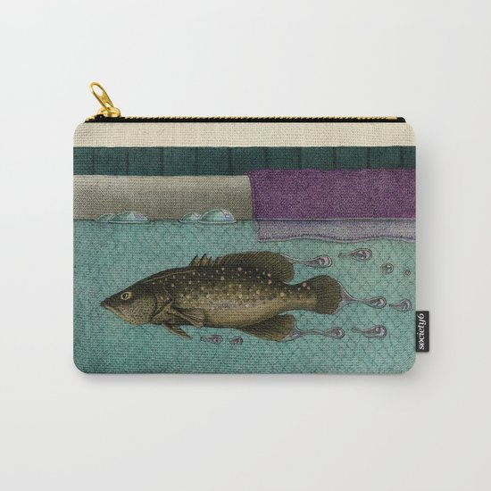 A Trail of Bubbles Carry-All Pouch