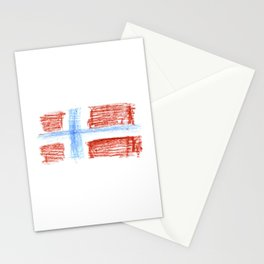 flag of norway 8 – Chalk version  snow,scandinavia,scandinavian,norwegian,oslo Stationery Cards