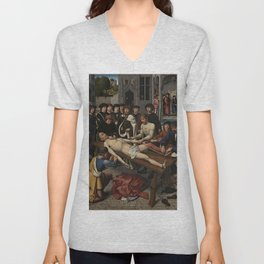 The Judgment of Cambyses Unisex V-Neck