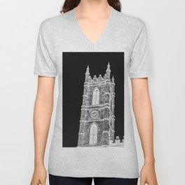 inverted church tower Unisex V-Neck