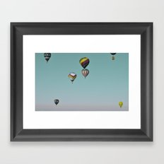 Float On, Hot Air Balloons. Framed Art Print