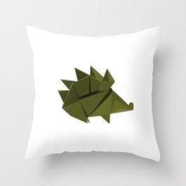 Origami Hedgehog Throw Pillow