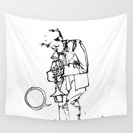 the trumpeter Wall Tapestry