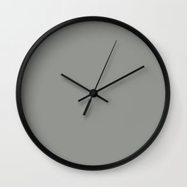 Neutral Dark Gray - Grey Solid Color Hue Single Shade Pairs To Sherwin Williams Tin Lizzie SW 9163 Wall Clock