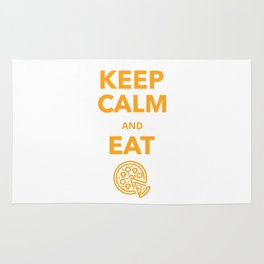 Keep Calm and eat Pizza Rug