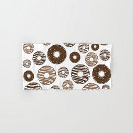 Donut Pattern, Chocolate Donuts, Caramel Donuts Hand & Bath Towel