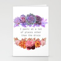 panic at the disco Stationery Cards featuring Panic! by Midnight Mania