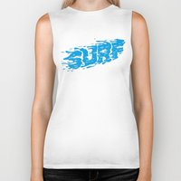 surf Biker Tanks featuring SURF by Some Kid Chris