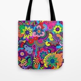 Digital Flowers - Doodles Tote Bag