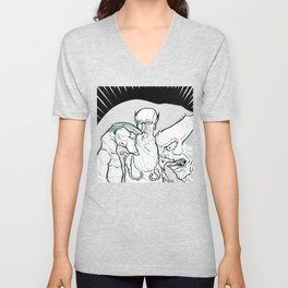 Three Buddies Unisex V-Neck