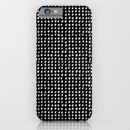Dots (Shadowed) - White x Grey iPhone Case