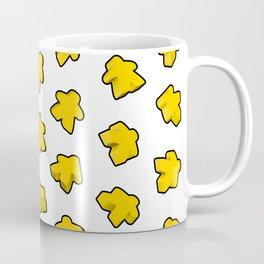 Yellow Meeple Mania Texture Coffee Mug