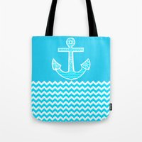 anchor Tote Bags featuring Anchor by haroulita