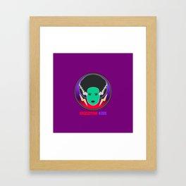 Bride of Neon Frankenstein Framed Art Print
