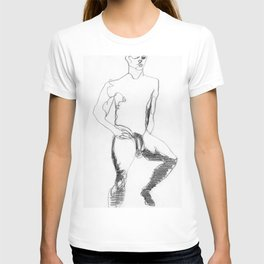 Male Nude Figure Drawing Study T-shirt