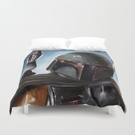 Boba Fett Art Portrait Duvet Cover