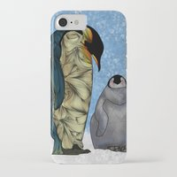power iPhone & iPod Cases featuring Emperor Penguins by Ben Geiger