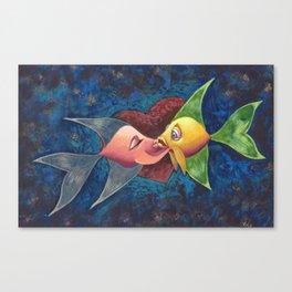 The Liplock 2: Be Mine Canvas Print
