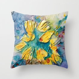 Color Vase Throw Pillow