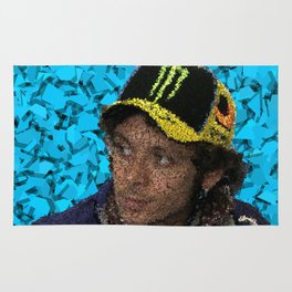 Homage to Valentino Rossi Rug