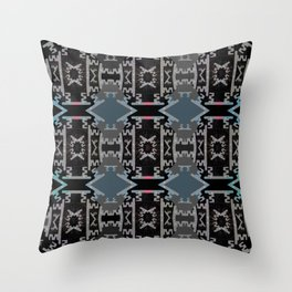 Deep Aztec Neo Tribal Weaving Print Throw Pillow