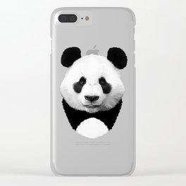 Panda Art Clear iPhone Case