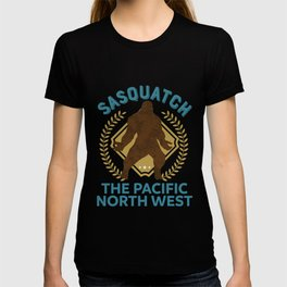 Sasquatch The Pacific North West PNW Bigfoot product T-shirt