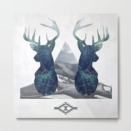 Double Deer Metal Print