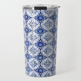 Weathered Traditional Blue Tiles Travel Mug
