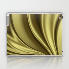 Abstract Fractal Colorways 02 Simple Gold Laptop & iPad Skin