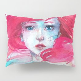Princess Ariel - Little Mermaid has no tears Pillow Sham