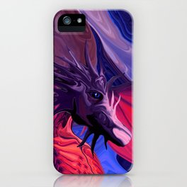 Jewel Toned Dragon of the Amethyst and Ruby Caverns iPhone Case