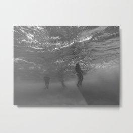 Lifeless Bodies Drown (Black and White) Metal Print