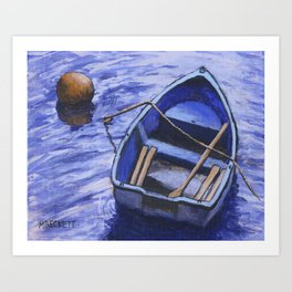 Buoy and Boat Art Print