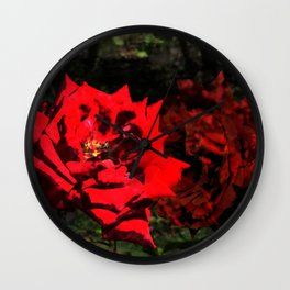 Red and Green Wall Clock