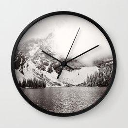 Wild Winter (B&W) Wall Clock