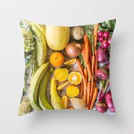 Eat the Rainbow Throw Pillow