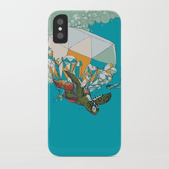 TURTLE& THE DIAMONDS iPhone Case