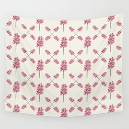 Orquideas pink pattern Wall Tapestry