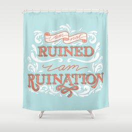 Grishaverse Quote Ruination Blue Orange Shower Curtain