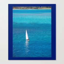 Perfect Blue Sailing Day Canvas Print