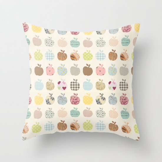 apples galore Throw Pillow