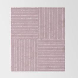 Lines III (Dusty Lilac) Throw Blanket