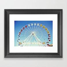Grand Wheel at the Fair Framed Art Print
